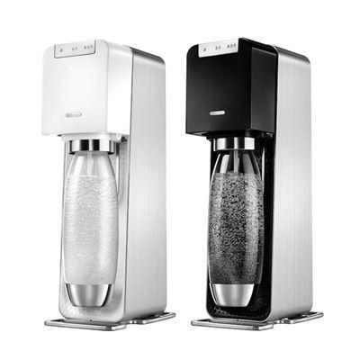 【Sodastream】Power Source 電動式扣瓶氣泡水機(白/黑) 加贈 全新鋼瓶+好好帶專用水瓶500ML 1入