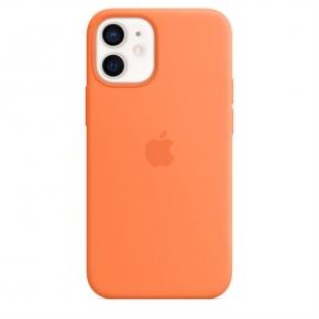 【Apple授權經銷商】iPhone 12 mini MagSafe 矽膠保護殼-金橘色
