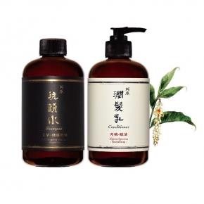 【阿原】夏季抗敏洗護組-艾草洗頭水250ml+月桃潤髮乳250ml