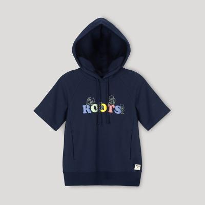 【Roots】女裝- 環保有機棉系列 刺繡動物修身短袖T恤