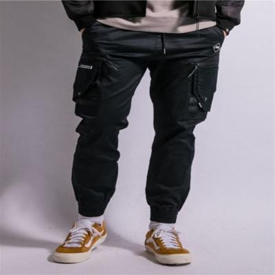 【LAKING】多口袋修身束口褲_深藍/綠