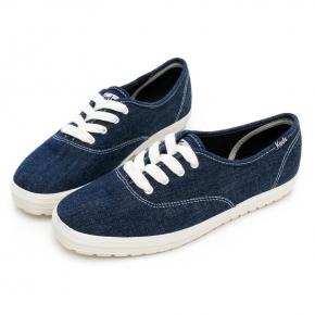 【Keds】CHAMPION TRX 經典率性丹寧休閒鞋 - 深藍