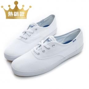 【Keds】CHAMPION 品牌經典帆布鞋-白