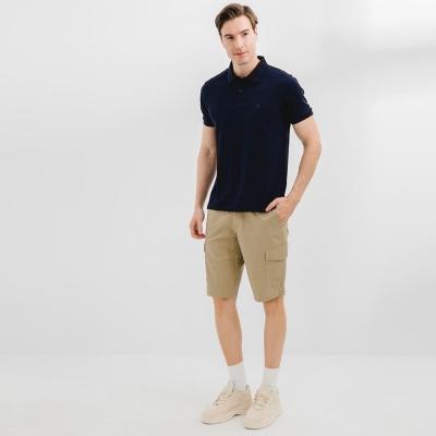 【HangTen】男裝-SLIM FIT修身鬆緊腰頭口袋短褲