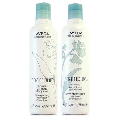 AVEDA 純香洗髮組(洗髮250ml+潤髮250ml)(國際航空版)