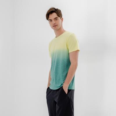 【HangTen】男裝-恆溫多功能-銀纖維無縫涼感抗菌除臭漸層短袖T恤