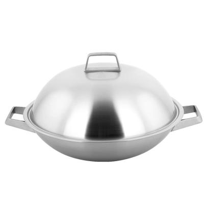 【義廚寶】 米克蘭諾 316不銹鋼 38cm深炒鍋 (附蓋+蝶形木鏟+料理竹筷)