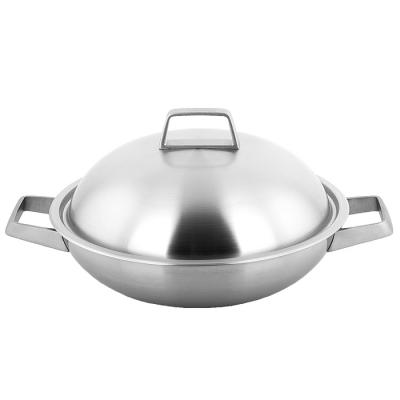 【義廚寶】 米克蘭諾 316不銹鋼 32cm深炒鍋 (附蓋+蝶形木鏟+料理竹筷)