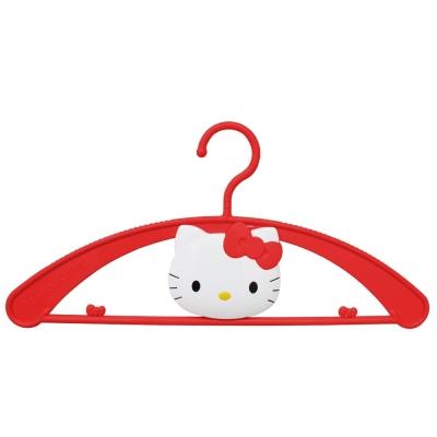 【JINMEI】Hello Kitty 立體臉蛋造型衣架-紅4入MT-556KT-RD