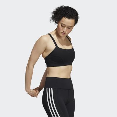 【adidas】女  專業運動 訓練 運動內衣(黑) H56330