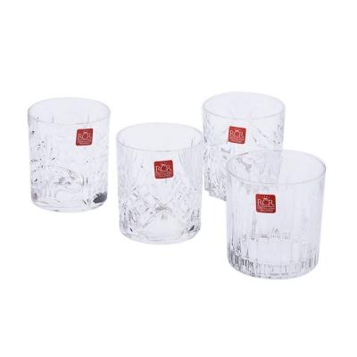 【HOLA Petite】義大利RCR4款調酒系列無鉛水晶威士忌杯(4入) 310ml-360ml