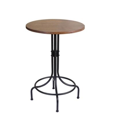 【HOLA Petite】工業風木質吧檯桌+工業風木質吧檯椅(工業風吧台一桌二椅 )