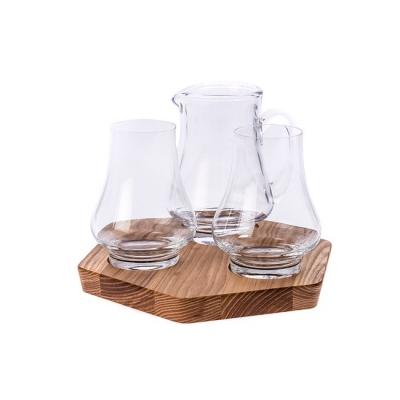 【HOLA Petite】英國Dartington 威士忌酒樽酒杯托盤4入組
