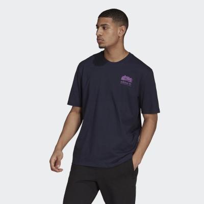 【adidas】ADIDAS 男 FLMOUNT TEE 短袖上衣 (深藍) - H13912