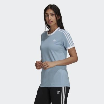 【adidas】ADIDAS 女 3 STRIPES TEE 短袖上衣 - H33574