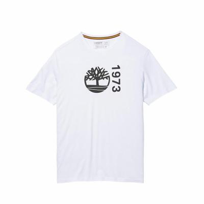 【Timberland】Timberland 男款白色經典Logo短袖T恤