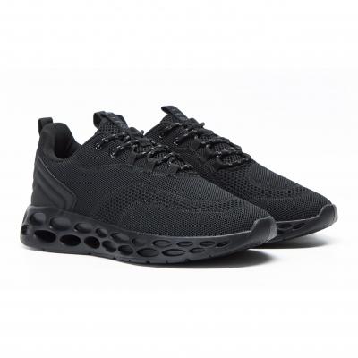 【Life8】Sport透氣網布黑宇宙者運動鞋 NO. 19017
