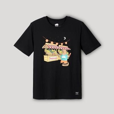 【Roots】Roots男裝-台灣日系列 海狸逛夜市短袖T恤