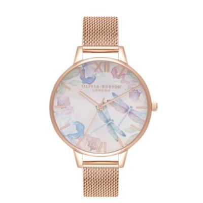 【PAIDEL】Olivia Burton Painterly Prints 蜻蜓花卉米蘭帶腕錶OB16PP83