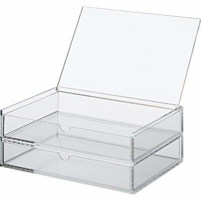 【MUJI 無印良品】可堆疊壓克力附蓋抽屜盒