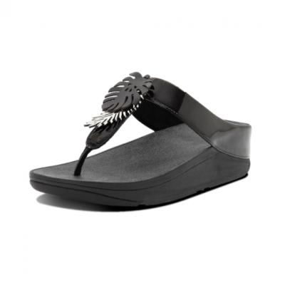 【fitflop】 FINO JUNGLE LEAF TOE-POST SANDALS 熱帶葉飾夾腳涼鞋