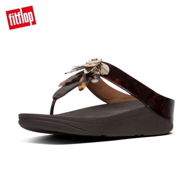 【FitFlop】CONGA DRAGONFLY TOE-THONGS 蜻蜓造型設計夾腳涼鞋(巧克力棕)