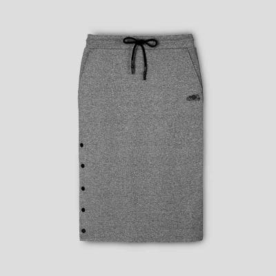 【Roots】開拓者系列 釘釦設計中長裙-灰色