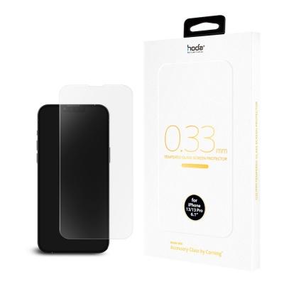【hoda】iPhone 13 mini / 13 / 13 Pro / 13 Pro Max 美國康寧授權 全透明滿版玻璃保護貼 0.33mm (AGbC)