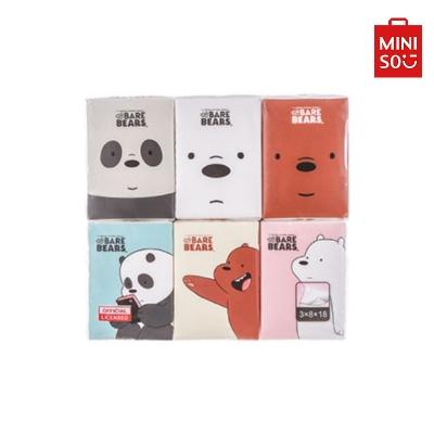 【MINISO 名創優品】咱們裸熊簡化版紙手帕18包入