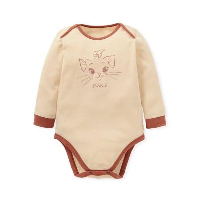 【mamaway】BABY迪士尼Q彈棉質長袖包屁衣-瑪麗貓