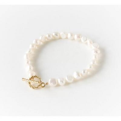 【SPANCONNY】天然淡水珍珠手鏈+星球純銀項鍊
