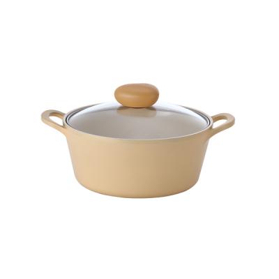 【NEOFLAM】Flan香草雪酪系列 22cm雙耳湯鍋 (IH適用/不挑爐具/可直火)